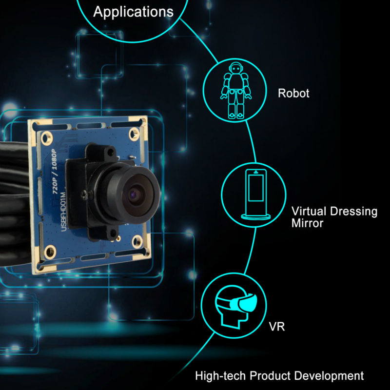 MJPEG High Frame Rate 2MP 1080p Hd CMOS OV2710 Senor Free