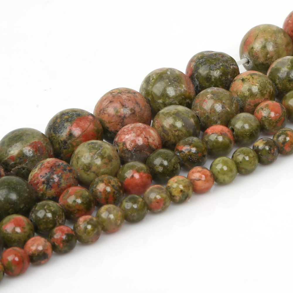 faceted pin gemstone unakite rondelle strand inch beads
