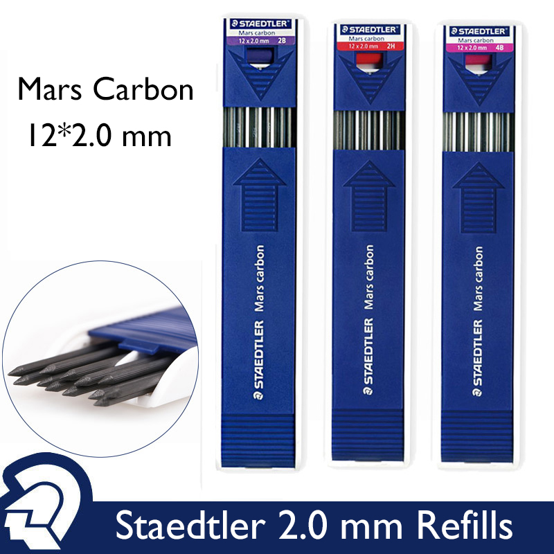 STAEDTLER Mars Carbon 12 x 2.0 mm 200 HB Drafting Pencil refill Lead