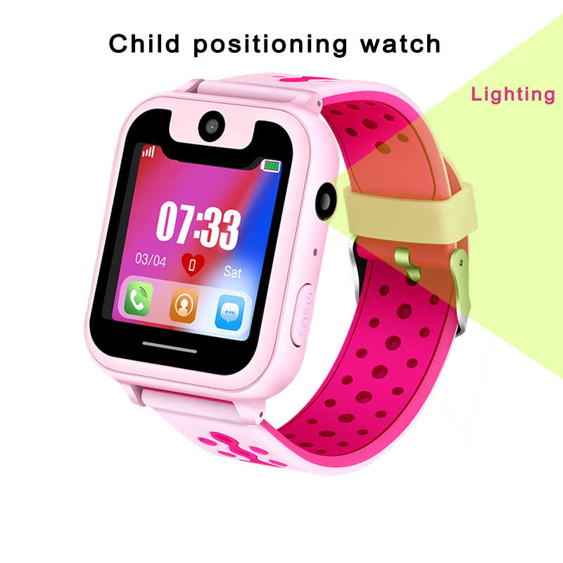 BANGWEI Smart Watch Children's Smart Watch Child Baby Watch SOS Call Location Finder Locator Tracker Anti-lost Display + Box
