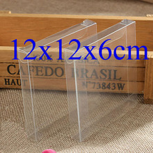 12*12*6cmWholesale 50pcs=1lot Clear PVC Custom Box Packing Wedding/Christmas Favor Candy/Flower/Gift/Candle/Dry Fruit Toys Box