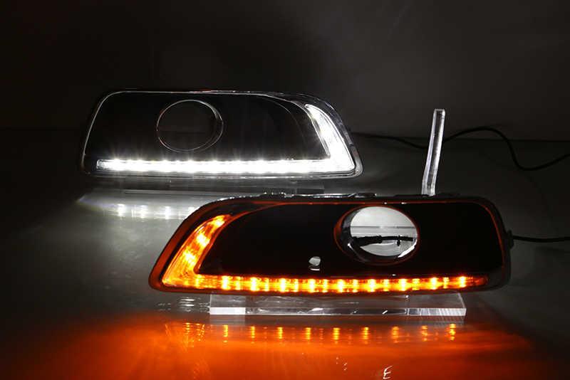Voiture clignotant 2 pièces LED DRL feux diurnes pour Chevrolet Malibu 2011 2012 2013 2014 2015 avec trou de lampe antibrouillard tournant la lumière