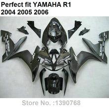 Partes do corpo Aftermarket injection mold carenagens para Yamaha YZF R1 04 05 06 kit carenagem preta fosca YZFR1 2004 2005 2006 LV13