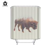 Charm Home Simple 2 Types WaterProof Bathroom Curtain Cows Cattle 100 High Quality Anti Mildew Polyester