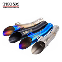 TKOSM Motorcycle Stainless Steel for GP HP Exhaust Muffler Pipe Slip On For YZF R6 with DB Killer R6 Muffler R6 Pipe R6 Exhaust