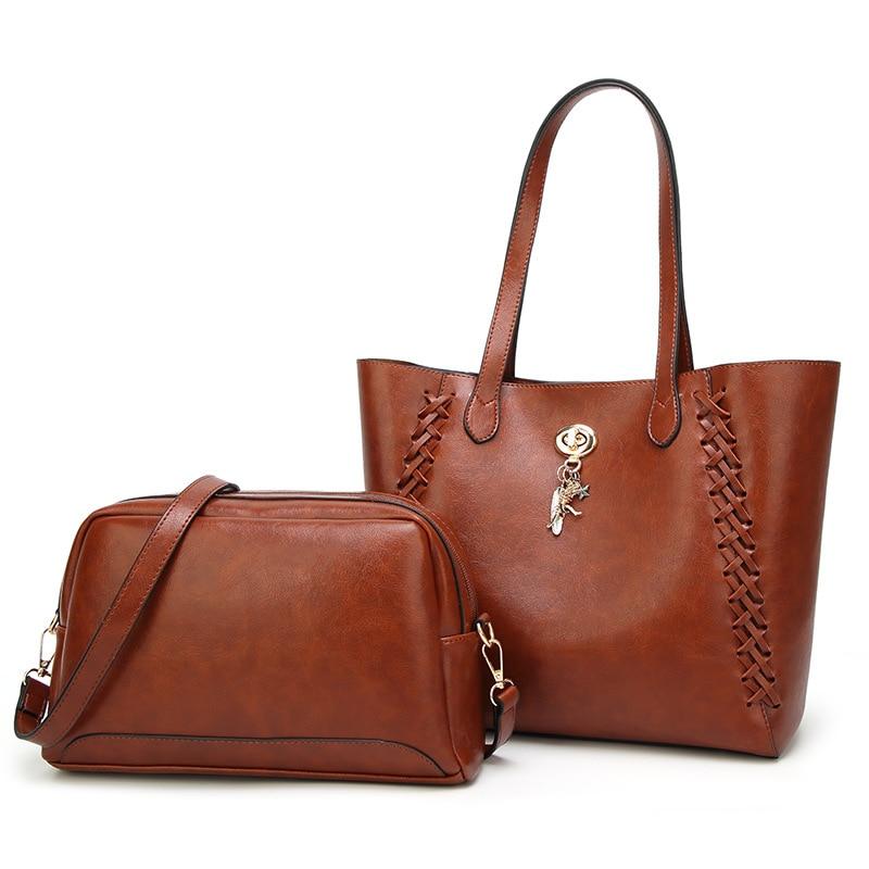 Quinta Laci Women Bag 2018 Fashion New Hot Sale Pu Leather Solid Color Female Shoulder Bags Women Composite Bags Handbag