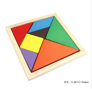 free shipping wooden Large tangoing baby puzzle toy 3y above Tangram ,