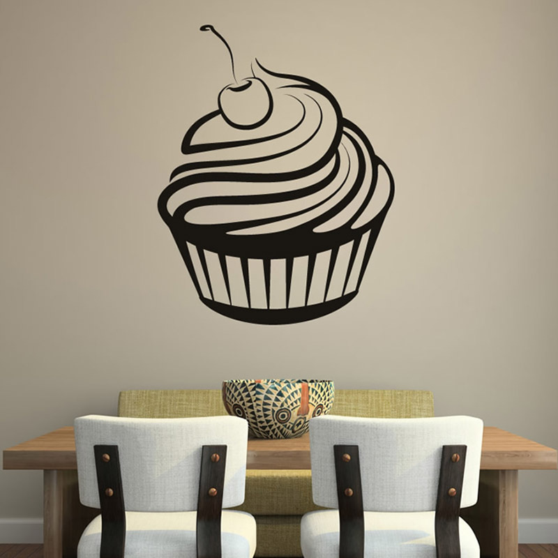 Online Get Cheap Cupcake Wall Decals Aliexpresscom Alibaba Group - Locations where sell wall decals