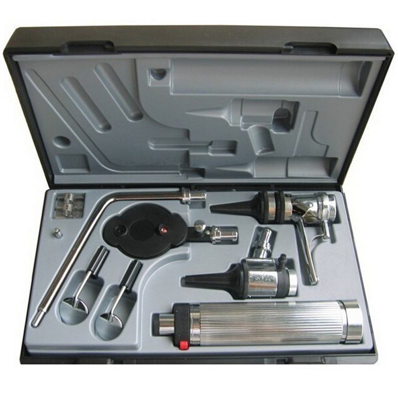 Medical Professional Diagnostic ENT Kit Direct Otoscopio Ear Care Otoscope Ophthalmoscope for Dental Throat Eye Check