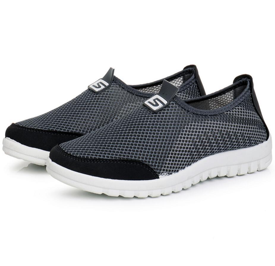grigio blu Outdoor Scarpe Casual Leggero Flats Zapatillas Nero Fashion e Hombre maschili traspirante Designer Uomo Mesh Sapatos qZqpwafT