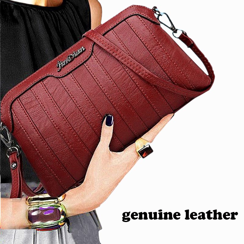Genuine Leather Crossbody Bags For Women New Hand Clutches 2017 Fashion Women Shoulder Messenger Bags