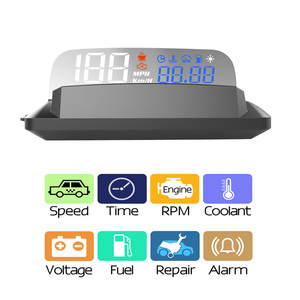 EANOP M20 Mirror HUD Head Up display Auto HUD OBD2 Car Speed Projector KMH MPH Speedometer Car Detector Oil Consumption