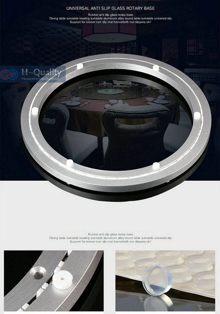40CM Luxury Silencer+Thicken Aluminium Alloy Lazy Susan With Voice Erasure Strap Smooth Solid Rotary Base Dining Table Turntable