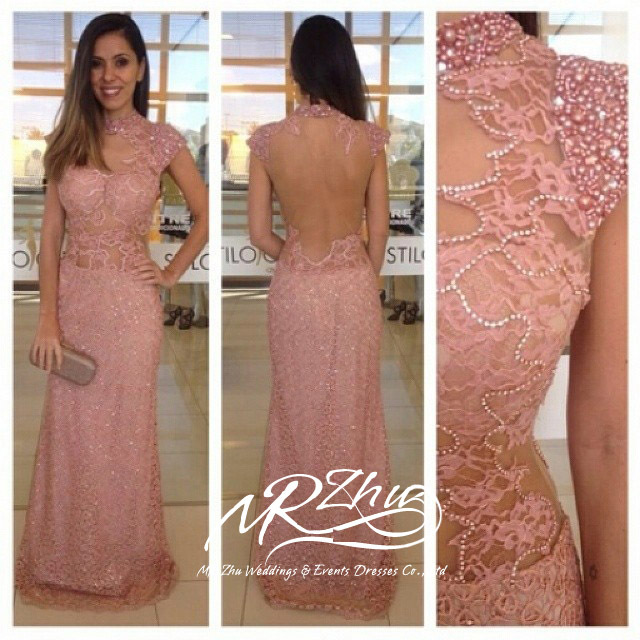 Brown lace dresses gowns evening