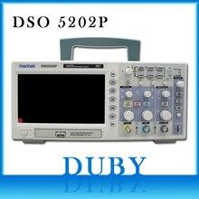 Hantek DSO5202P האחסון הדיגיטלי אוסצילוסקופ USB 200MHz 2 ערוצים 1GSa/s 7 TFT LCD שיא אורך 40K AC110 220V נייד Osci