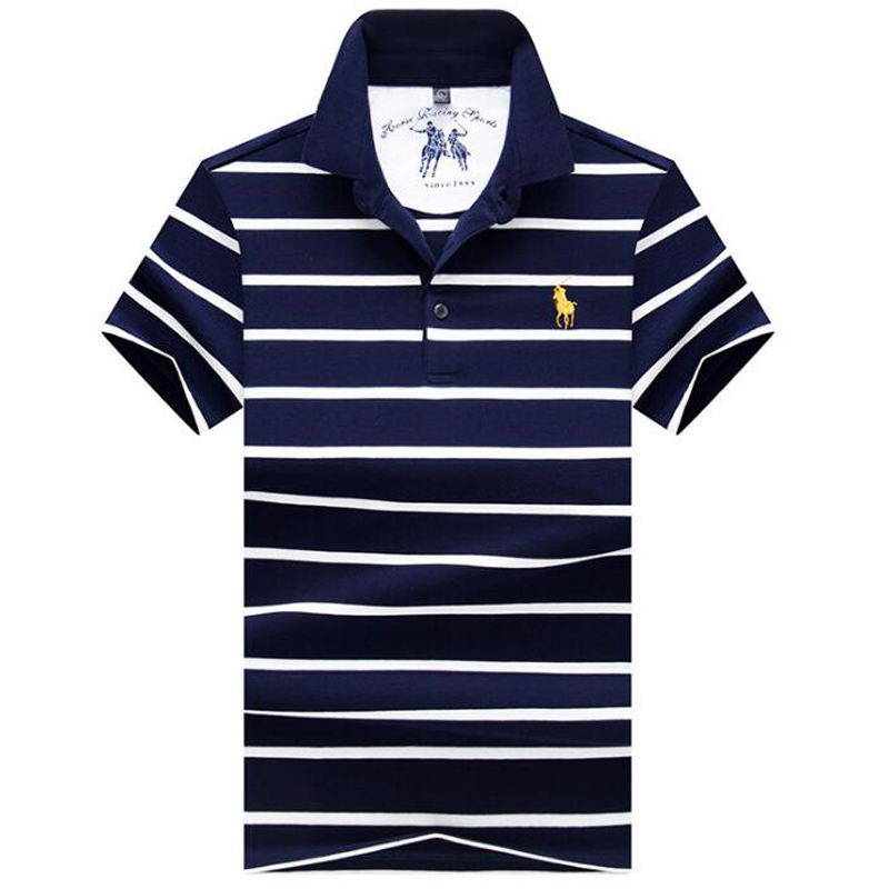 2019 NEW   Polo   shirt High quality brand striped men   polo   shirt Summer cotton solid shirt   polo   male Branded clothing