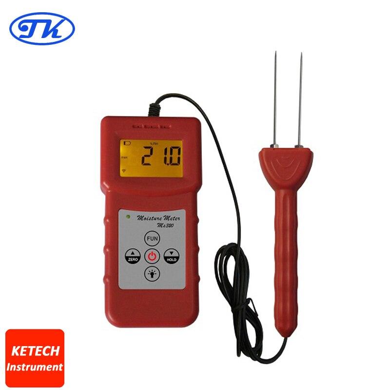 Portable Tobacco Moisture Meter MS320 mc 7806 digital moisture analyzer price with pin type cotton paper building tobacco moisture meter