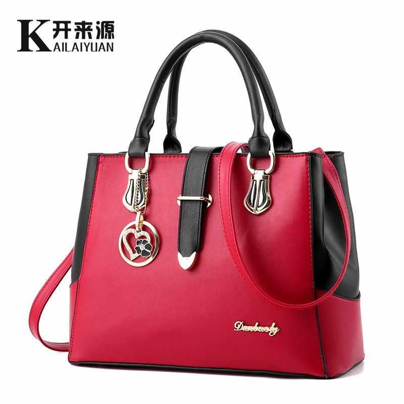KLY 100% Genuína Mulheres de couro bolsas de 2019 fêmea Nova Coreano doce em forma de moda bolsa Crossbody Bolsa de Ombro