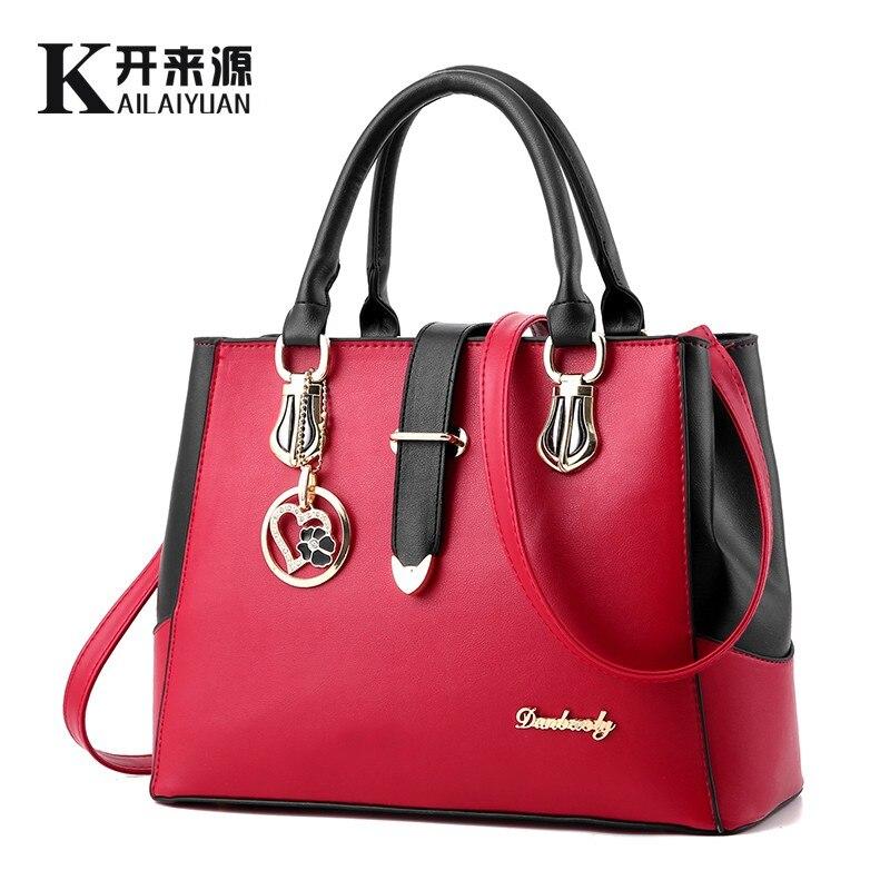 KLY 100% en cuir véritable femmes sacs à main 2019 nouvelle femme coréenne mode sac à main en forme de bandoulière doux épaule sac à main