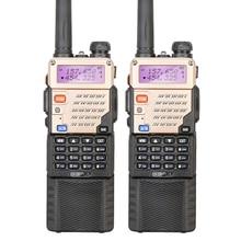 2PCS Original UV-5R+Plus/UV-5RE Dual Band 136-174/400-520 MHZ 5W Long Battery Commercial Walkie Talkie Free Earphone
