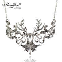 Cadeau de noël mode Vintage Antique wapiti cerf Long Maxi colliers et pendentifs déclaration bijoux femmes Collier Collier femme