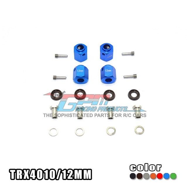 TRAXXAS TRX-4 TRX4 82056-4 Aluminum alloy hex adapters 12mm thick with Stainless steel screw needle - set  TRX4010/12MM