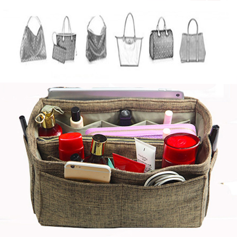 Fits Speedy25 30 35 40Delightful Hand Woven Cloth bag Organizer Tote Purse Insert Waterproof Cosmetic Diaper Belongings BaginBag-in Cosmetic Bags & Cases from Luggage & Bags on AliExpress - 11.11_Double 11_Singles' Day 1