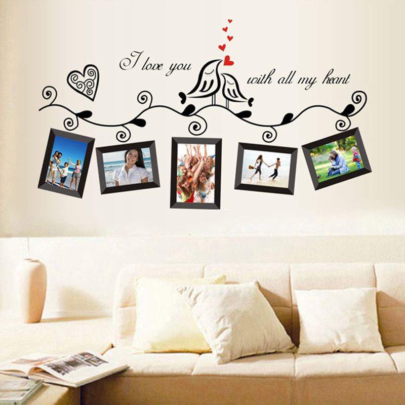 Hot sale frame i love you with all my heart vines wall for Bedroom wallpaper sale
