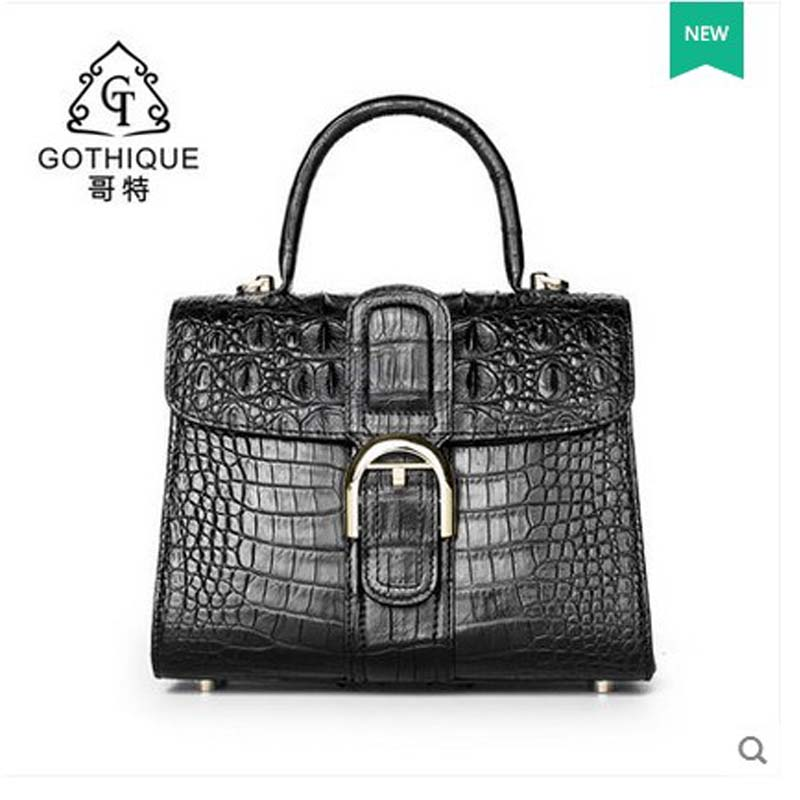 2018 gete new hot freeshipping Thai crocodile leather handbag lady single shoulder bag woman bag female handbag