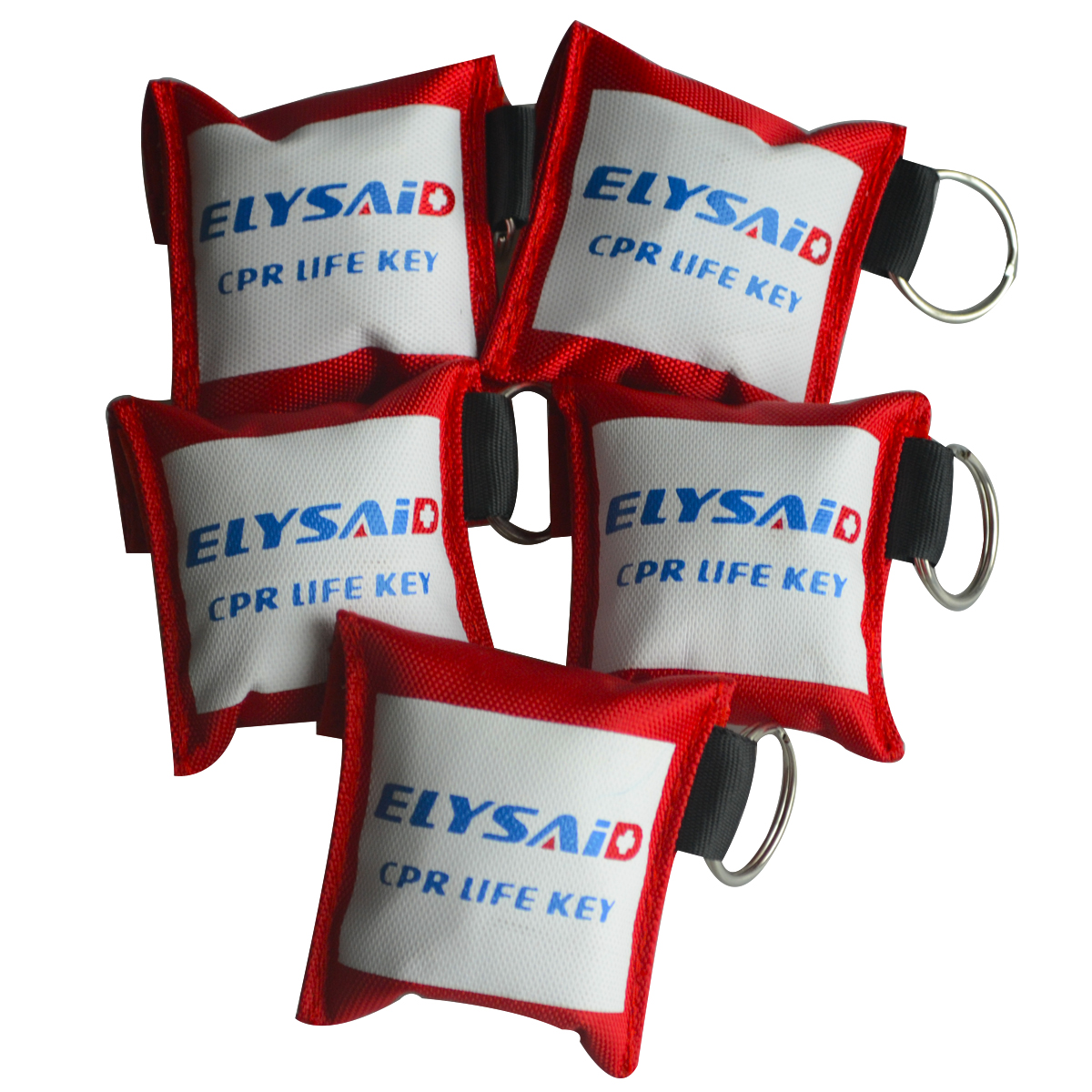 цена на 100Pcs/Lot CPR Resuscitator Mask Keychain Elysaid CPR Face Shield With 100Pair Gloves First Aid Rescue Kit Health Care Tool