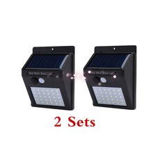 Free Shipping Solar Rechargeable LED Solar light Bulb Outdoor Garden lamp Decoration PIR Motion Sensor Night Security Wall light