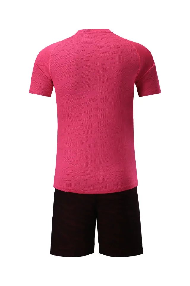 Men short sleeve 2018color size tracking Purple kits jersey adult soccer football suit Ventilation Football Jersey Pink
