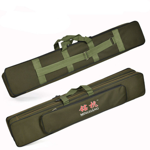Cheap free delivery Large Capacity Double Layer Fishing Rod Tackle Bag Fishing Bag 120CM Camouflage Black Green Wholesale