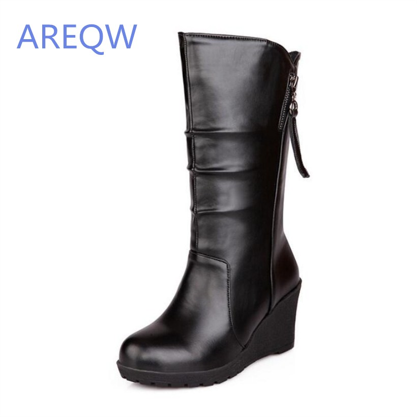2016 New women's boots Autumn short boots mid-calf lady knight shoes Fashion Elegant boots double buckle cross straps mid calf boots