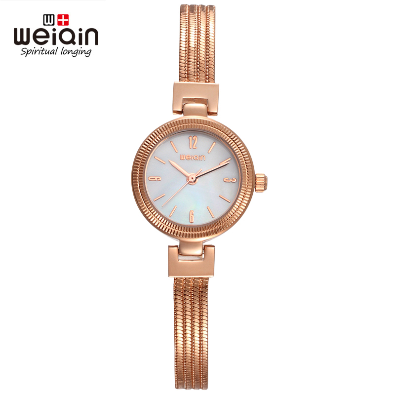 WEIQIN Brand Numbers NailScale Quartz Movement Hardlex Bracelet Clasp Stainless Steel Fashion Ladies Watch Women Wristwatches