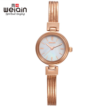 WEIQIN Marca Números NailScale Broche de Pulsera Movimiento de Cuarzo Hardlex Reloj de Señoras de Las Mujeres de Moda de Acero Inoxidable Relojes de Pulsera