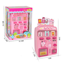 Childrens Vending Machine, Candy Drink, Voice Boy and Girl, Coin-operated House, Sound Light Toy
