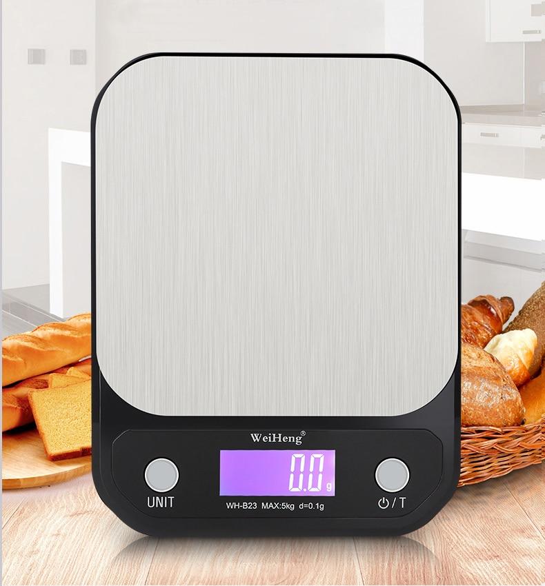 Digital Kitchen Scale Measuring Tools 5Kg/0.1g 10Kg/1g Stainless Steel Platform Electronic Postal Baking Diet Food Weight