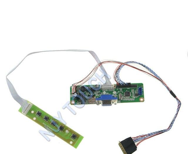 """V. M70A VGA LVDS LCD Controlador Board DIY Kit plug and play Para 11.6 """"N116B6 L07 N116B6-L07 1366x768 Tela LED TFT LCD reparação"""
