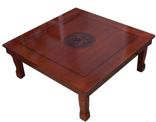 Корейский пол стол складной ноги площадь 80*80 см Роскошные Античная Мебель для дома стол для столовой традиционной корейской низкий столик