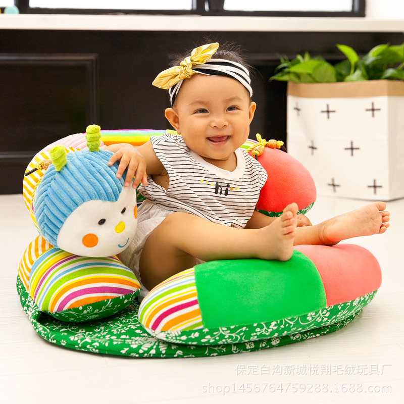 2019 Cartoon Infant Baby Sofa Sit Learning Chair For Baby Three In One Cute Caterpillar Sofa Baby Soft Seat Cushion Infant Gift