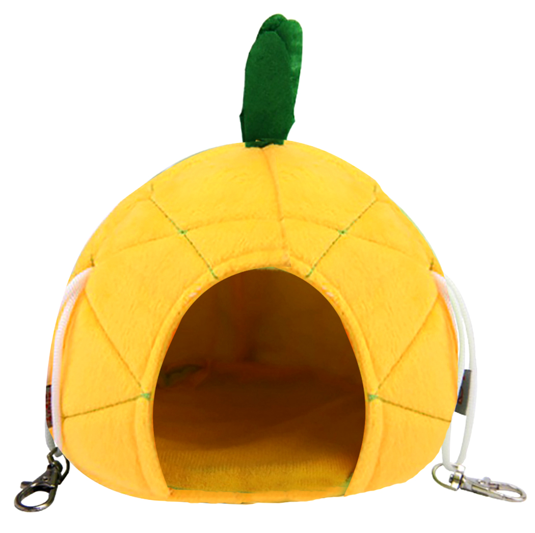 Creative Pineapple Cartoon Warm Small Animal Bed Cute Hamster Hanging Bed House Warm Hedgehog Guinea Pig Bed For Small Breed