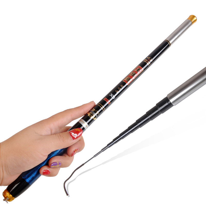 YUYU Portable Stream Fishing Rod 2.7m-5.4m High Carbon Telescopic Rod handing rod Carp Fishing Ultra Fishing pole folding 40cm handing 7h flying fish stream fishing rod high carbon fiber telescopic rod rock carp fishing rod ultra light taiwan fishing pole