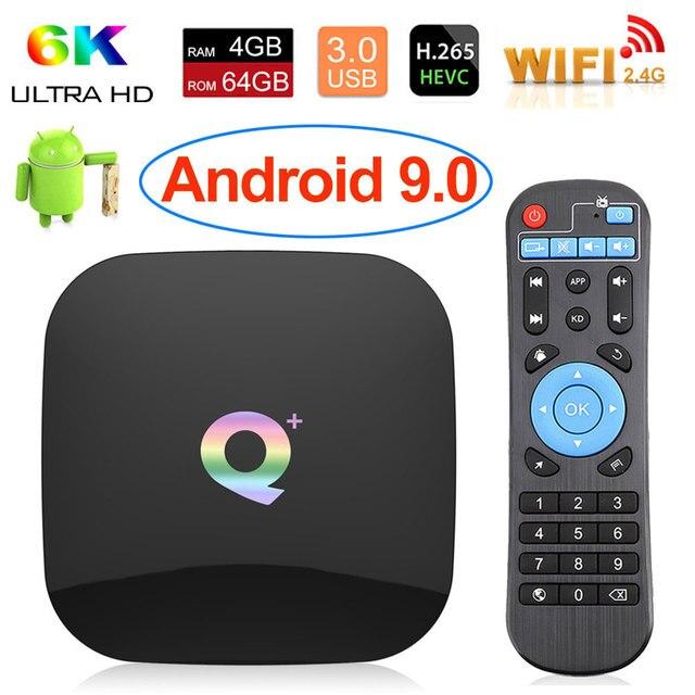 2019 6K Android 9.0 TV Box Smart TV Box 4GB/64GB Allwinner H6 Quad Core H.265 USD3.0 2.4G Wifi Support Google Playstore Youtube