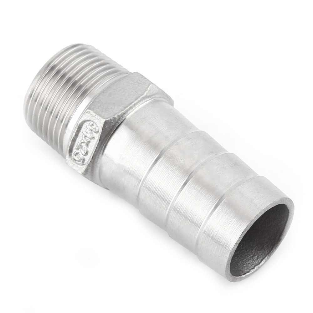 """In Acciaio Inox Maschio BSP 1/8 """"1/2"""" 1/4 """"3/4"""" Filetto di Tubo Raccordi Filettati Hose Tail Connettore 6mm a 25 millimetri Strumenti Accessorio"""