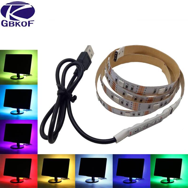 Tiras de Led de desktop monitor de pc Especificações (pontos de Luz / M) : 30leds/m