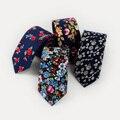 Nueva Marca de Moda Corbata Para Los Hombres Corbata Clásica de Algodón A Cuadros Bowtie Boy Accesorios Corbata Gravatas Delgados Ocasionales de Rayas Rojas 6 cm lazos