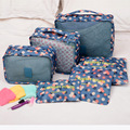 6 Unids/set Alta calidad del paño de Oxford organizador de bolsa en bolsa de malla de viaje equipaje embalaje cube organizador para la ropa