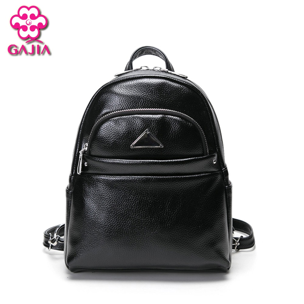 GAJIA Fashion Women Backpack High Quality PU Leather Patchwork School Bags For Teenagers Girls Top handle