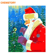 CHENISTORY Frame Christmas Picture DIY Painting By Numbers Acrylic Paint On Canvas Coloring By Numbers Unique Gift For Home Arts(China)